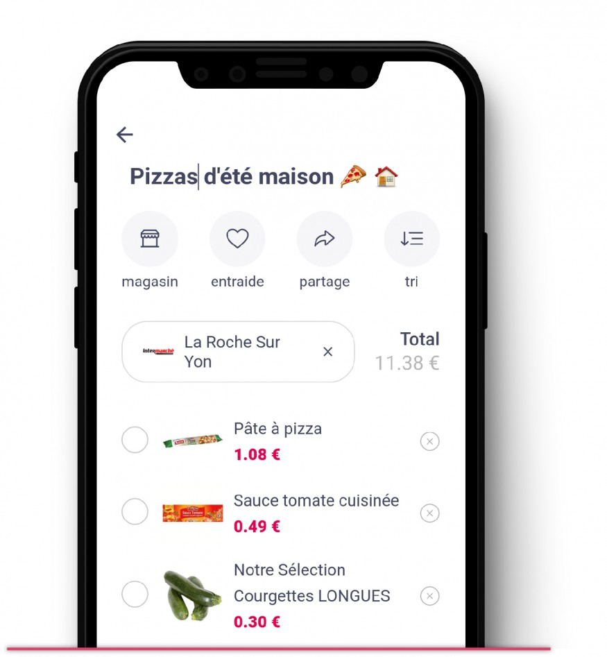 Liste de courses pizza maison
